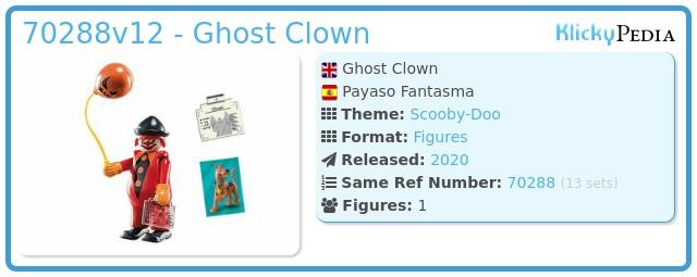 Playmobil 70288v12 - Ghost Clown
