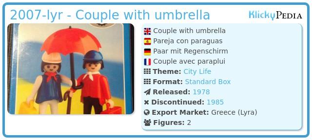 Playmobil 2007-lyr - Couple with umbrella