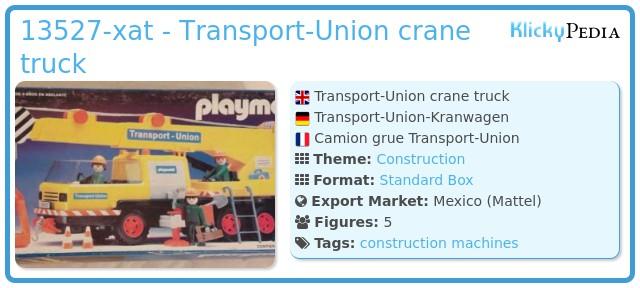Playmobil 13527-xat - Transport-Union crane truck