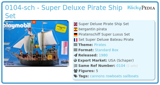 Playmobil 0104-sch - Super Deluxe Pirate Ship Set