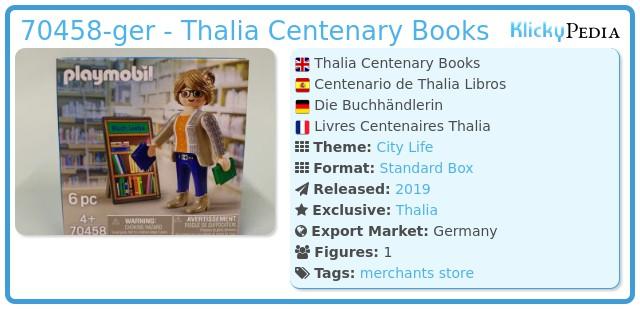 Playmobil 70458-ger - Thalia Centenary Books