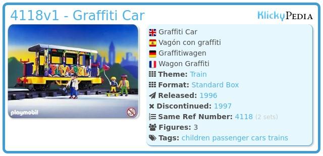 Playmobil 4118v1 - Graffiti Car