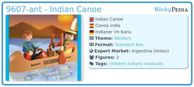 Playmobil 9607-ant - Indian Canoe