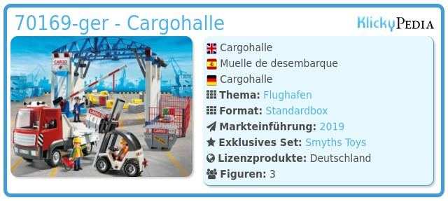 Playmobil 70169-ger - Cargohalle
