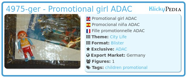 Playmobil 4975-ger - Promotional girl ADAC