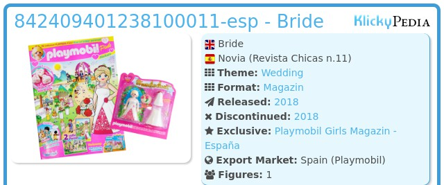 Playmobil 842409401238100011-esp - Bride