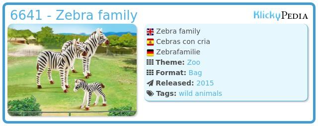 Playmobil 6641 - Zebra family
