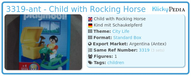 Playmobil 3319-ant - Children with Rocking Horse
