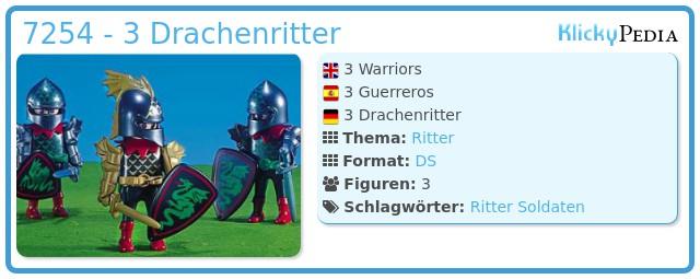 Playmobil 7254 - 3 Drachenritter