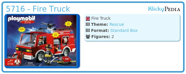Playmobil 5716 - Fire Truck