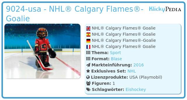 Playmobil 9024-usa - NHL® Calgary Flames® Goalie