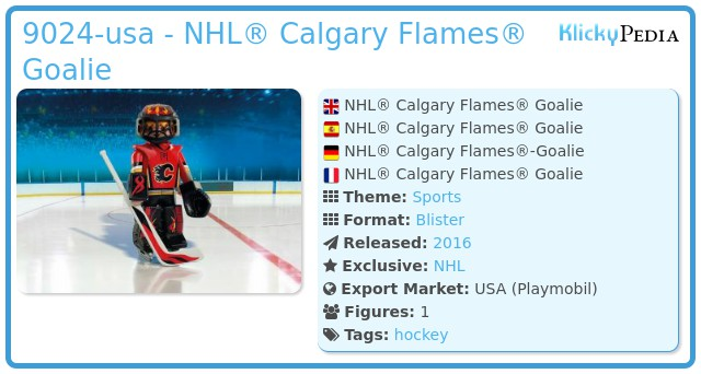 Playmobil 9024-usa - NHL® Calgary Flames® Goalie