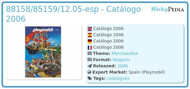 Playmobil 88158/85159/12.05-esp - Catálogo 2006