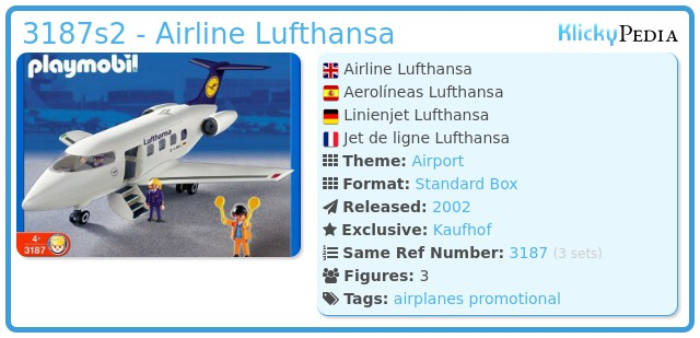 Playmobil 3187s2 - Airline Lufthansa