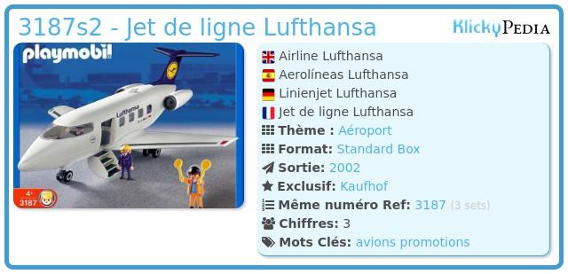 Playmobil 3187s2 - Jet de ligne Lufthansa