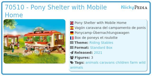 Playmobil 70510 - Pony camp caravan car