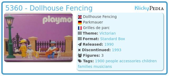 Playmobil 5360 - Dollhouse Fencing