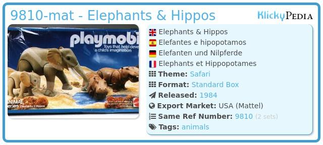 Playmobil 9810-mat - Elephants & Hippos