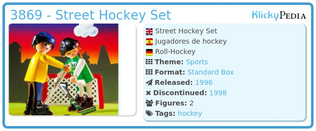Playmobil 3869 - Street Hockey Set