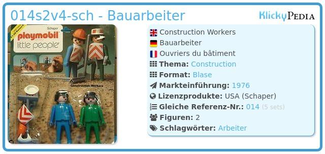 Playmobil 014s2v4-sch - Bauarbeiter