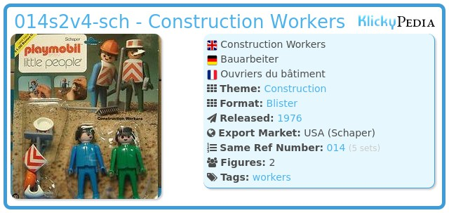 Playmobil 014s2v4-sch - Construction Workers