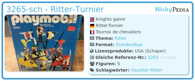 Playmobil 3265-sch - Knights game