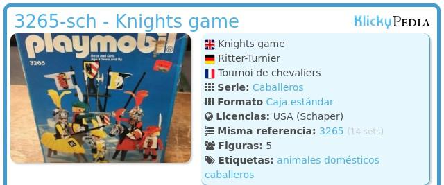 Playmobil 3265-sch - Knights game