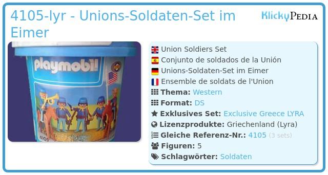 Playmobil 4105-lyr - Union Soldiers Set