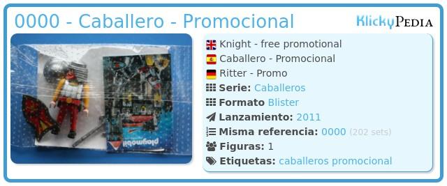 Playmobil 0000 - Caballero - Promocional