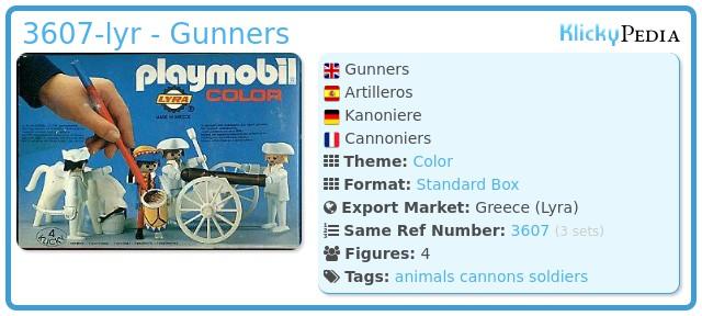Playmobil 3607-lyr - Gunners