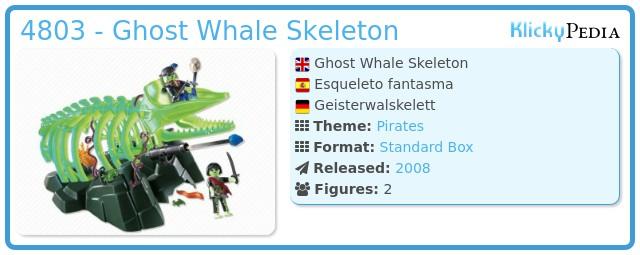 Playmobil 4803 - Ghost Whale Skeleton