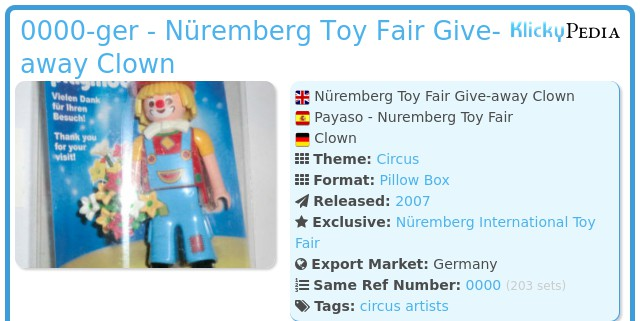 Playmobil 0000-ger - Nüremberg Toy Fair Give-away Clown