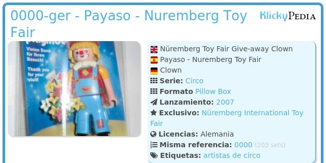 Playmobil 0000-ger - Payaso - Nuremberg Toy Fair