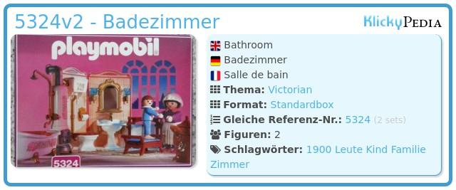 Playmobil 5324v2 - Badezimmer