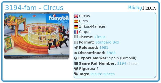 Playmobil 3194-fam - Circus