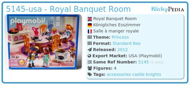 Playmobil 5145-usa - Royal Banquet Room