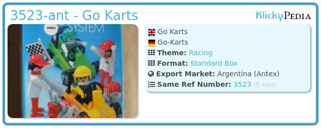 Playmobil 3523-ant - Go Karts