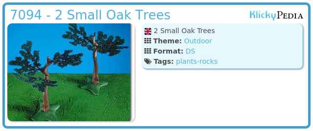 Playmobil 7094 - 2 Small Oak Trees