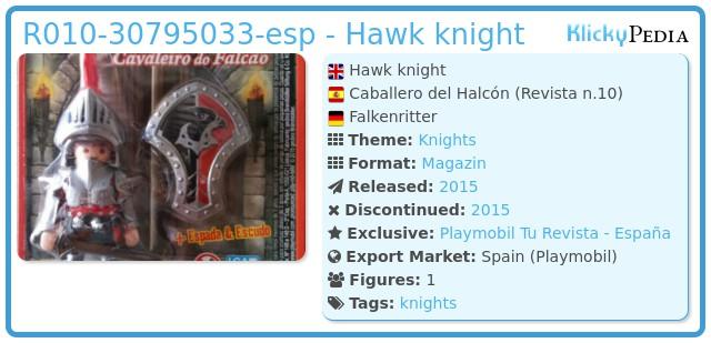 Playmobil R010-30795033-esp - Hawk knight