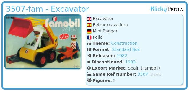 Playmobil 3507-fam - Retroexcavadora