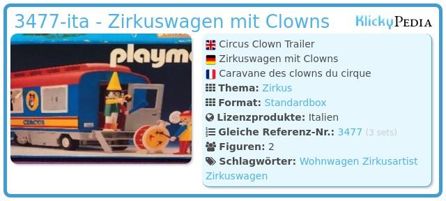 Playmobil 3477-ita - Zirkuswagen mit Clowns