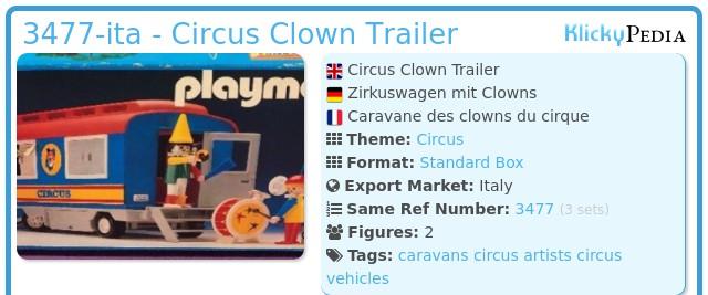 Playmobil 3477-ita - Circus Clown Trailer