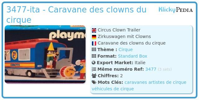 Playmobil 3477-ita - Caravane des clowns du cirque