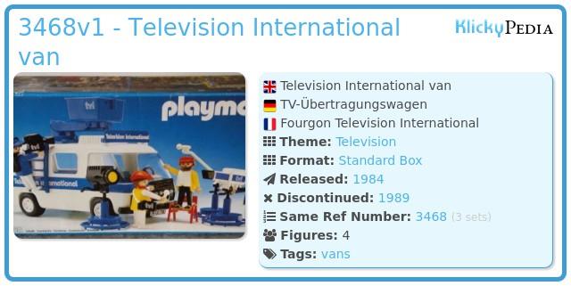 Playmobil 3468 - Television International van