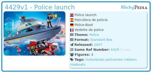 Playmobil 4429v1 - Police launch
