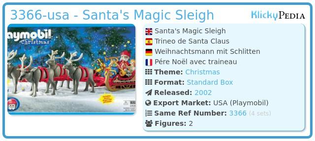 Playmobil 3366-usa - Santa's Magic Sleigh