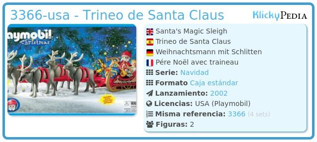 Playmobil 3366-usa - Trineo de Santa Claus