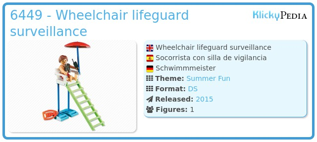 Playmobil 6449 - Wheelchair lifeguard surveillance