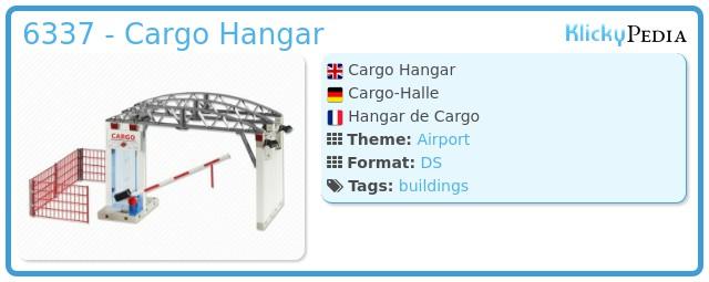 Playmobil 6337 - Cargo Hangar