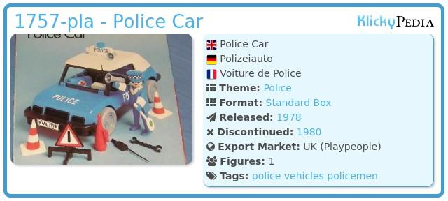 Playmobil 1757-pla - Police Car